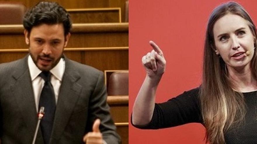 El diputado del PP Guillermo Mariscal y la diputada de Ciudadanos Melisa Rodríguez