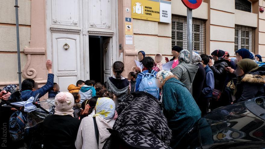 Niños protestan en Melilla y exigen su escolarización