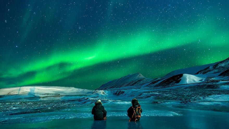 Auroras boreales, soledad, frío intenso y exploración extrema. El sueño de cualquier aventurero. (DP).