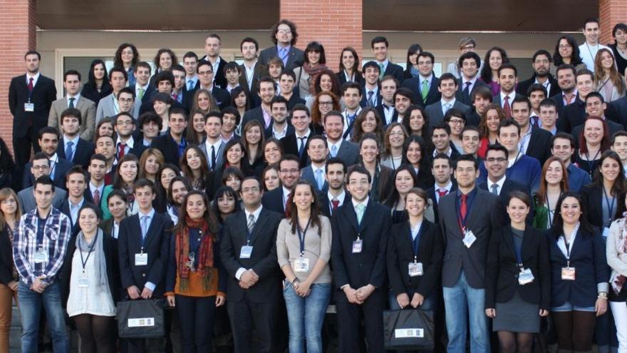 Los asistentes al Simulacro del Congreso de los Diputados en la Universidad Pablo de Olavide