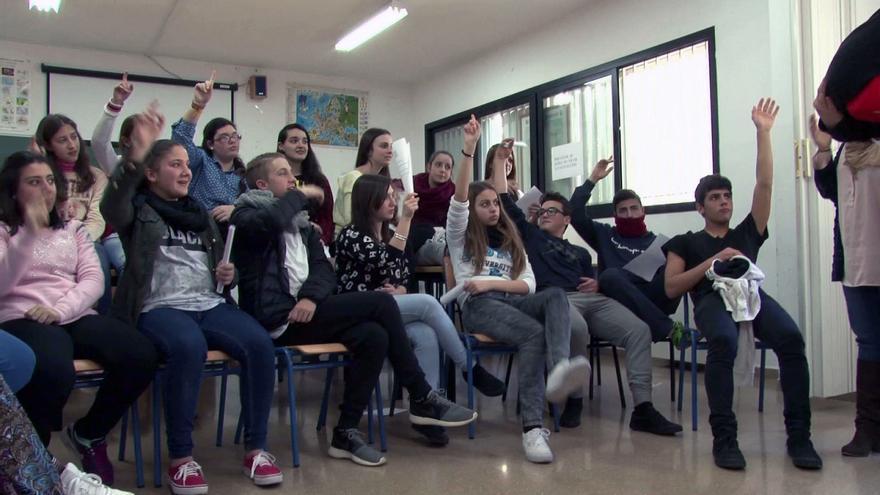 Estudiantes del IES Itálica durante el proyecto Agualandia
