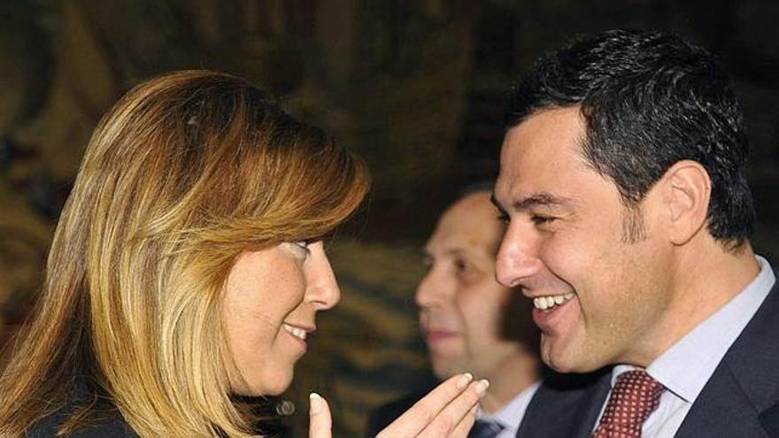 Susana Díaz conserva con su sucesor, el presidente andaluz Juan Manuel Moreno Bonilla.