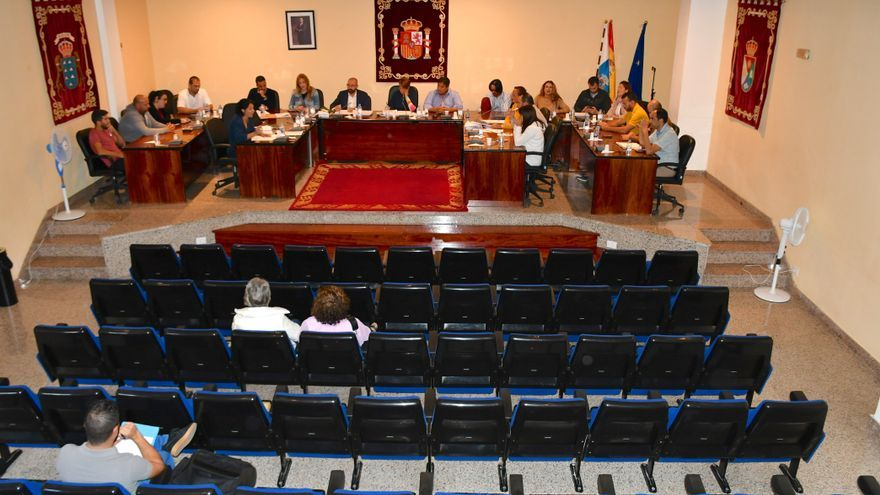 Pleno en el Ayuntamiento de Mogán.