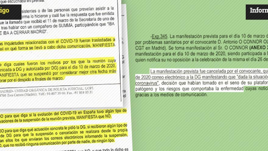 Informe manipulación sindicalista Guardia Civil PORTADA