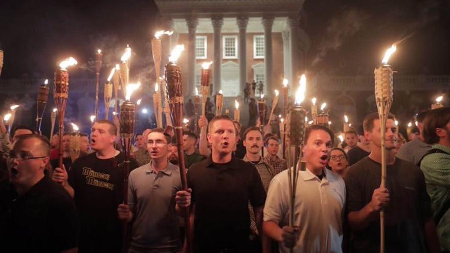 Manifestantes por la Supremacía Blanca. Charlottesville, Virginia, EEUU
