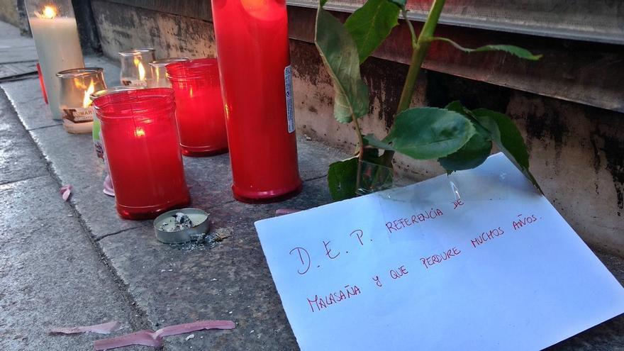 Mensaje de despedida para Casto, en la puerta del Palentino   SOMOS MALASAÑA