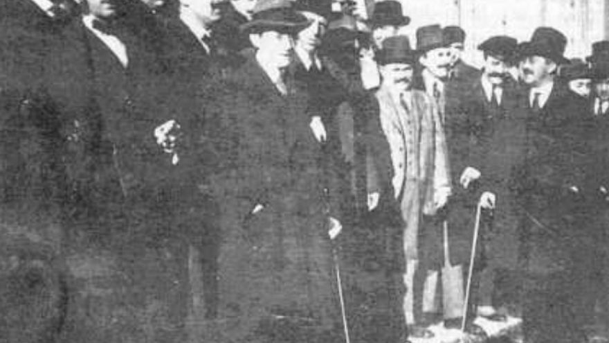 Participantes en la Asamblea del 18 de noviembre de 1918