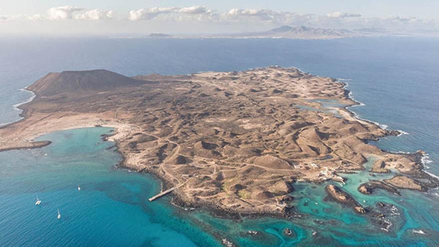 Vista aérea de la Isla de Lobos.