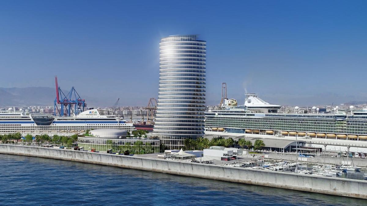 Recreación de la Torre del Puerto, según los arquitectos autores del proyecto