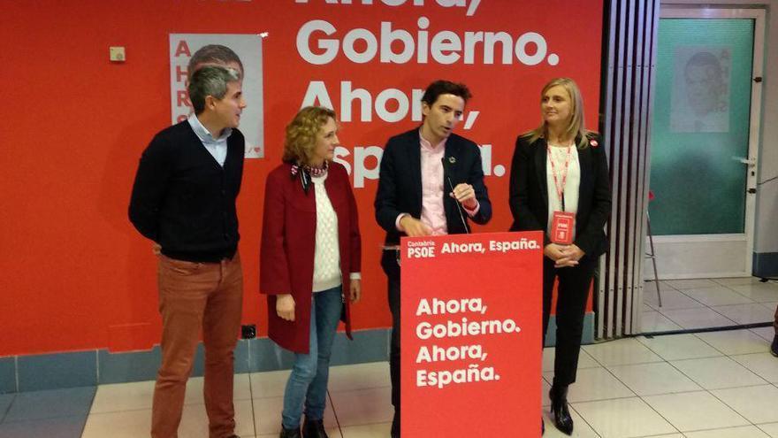 Casares celebra los resultados nacionales y pasa de puntillas por la derrota del PSOE en Cantabria
