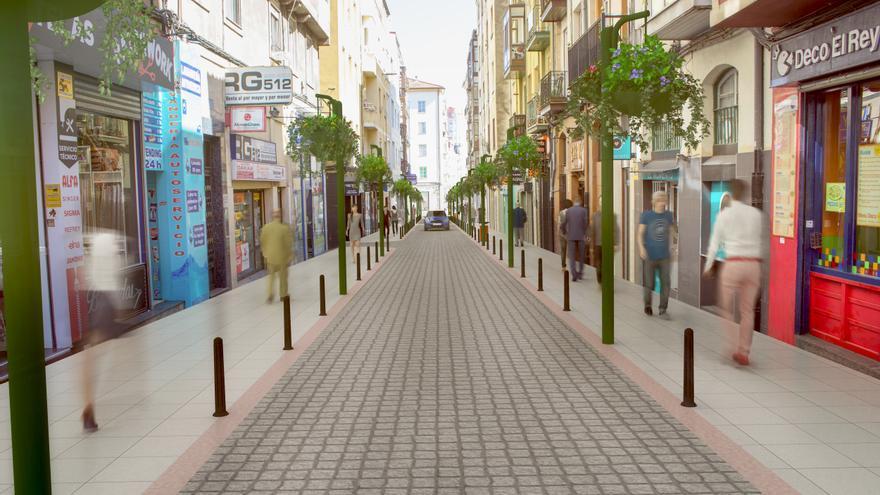 El Ayuntamiento de Santander vuelve a cerrar por segunda vez la calle San Luis, esta vez para semipeatonalizar