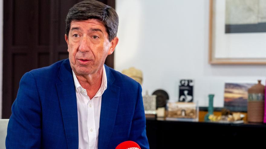 El vicepresidente de la Junta, Juan Marín, durante la entrevista con Europa Press.