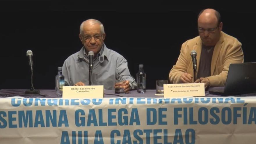 Saraiva de Carvalho, durante su conferencia en Pontevedra