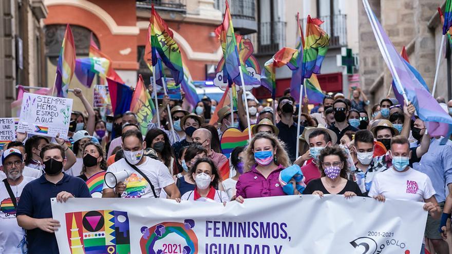 Manifestación de reivindicación de la igualdad del colectivo LGTBI en Toledo