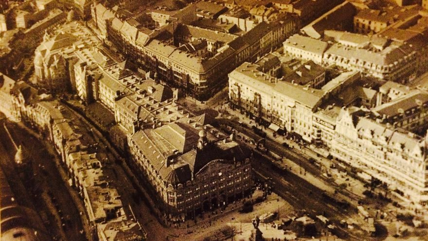 Vista aérea de Alexanderplatz en 1912, antes de las reformas de Martin Wagner/ Wikimedia Commons