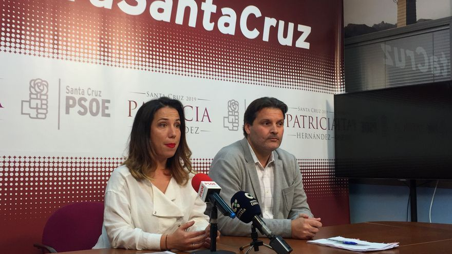 Patricia Hernández y José Ángel Martín, este viernes en la rueda de prensa