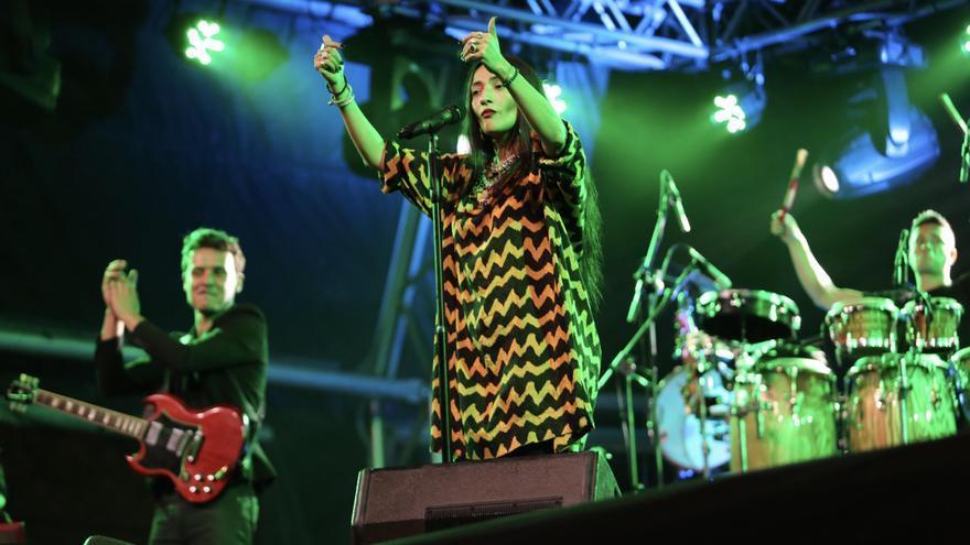 Hindi Zahra en el WOMAD Gran Canaria