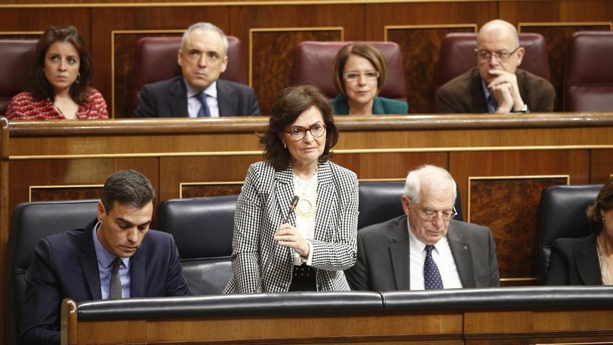 """Calvo informa a puerta cerrada en el Congreso sobre los viajes de Sánchez y dice que """"no tiene nada que ocultar"""""""