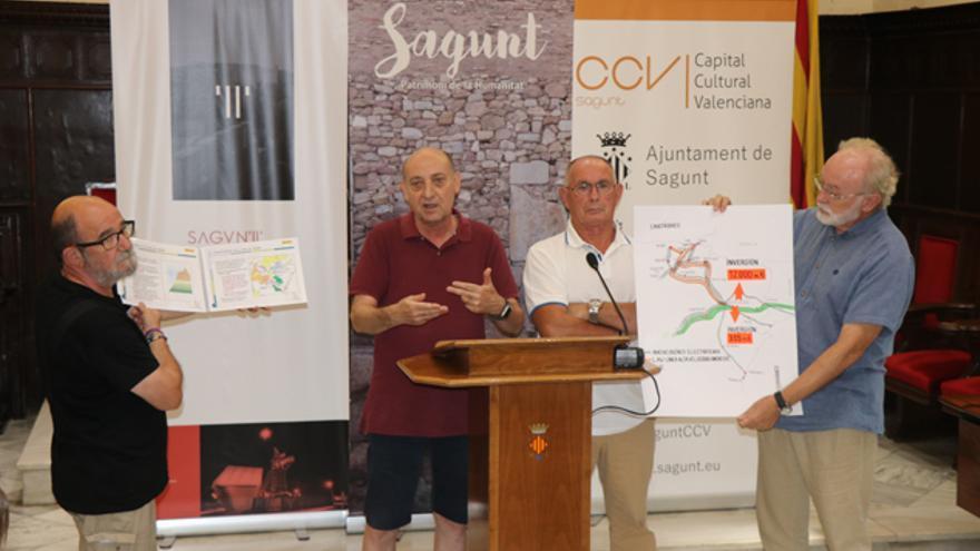 Imagen del acto celebrado en el Ayuntamiento de Sagunt