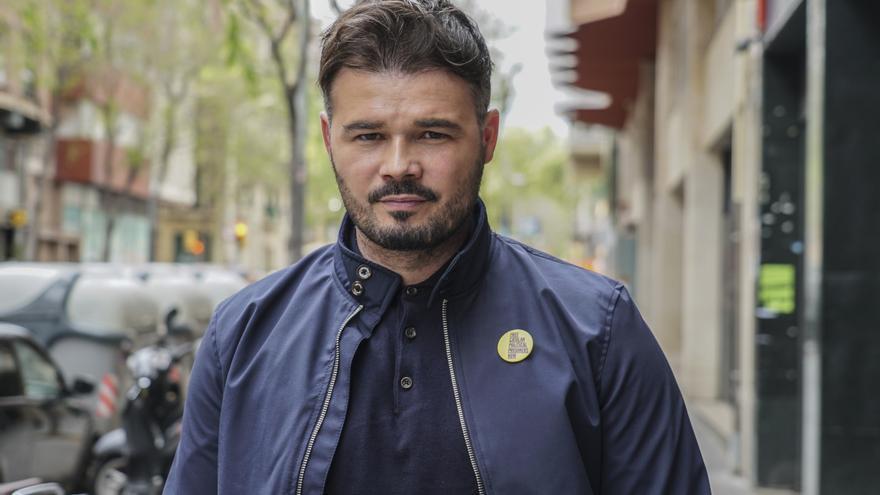 El candidato de ERC al Congreso de los Diputados, Gabriel Rufián