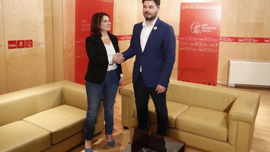 Lastra (PSOE) se reúne mañana con Rufián (ERC) en el Congreso para hablar de la investidura de Sánchez