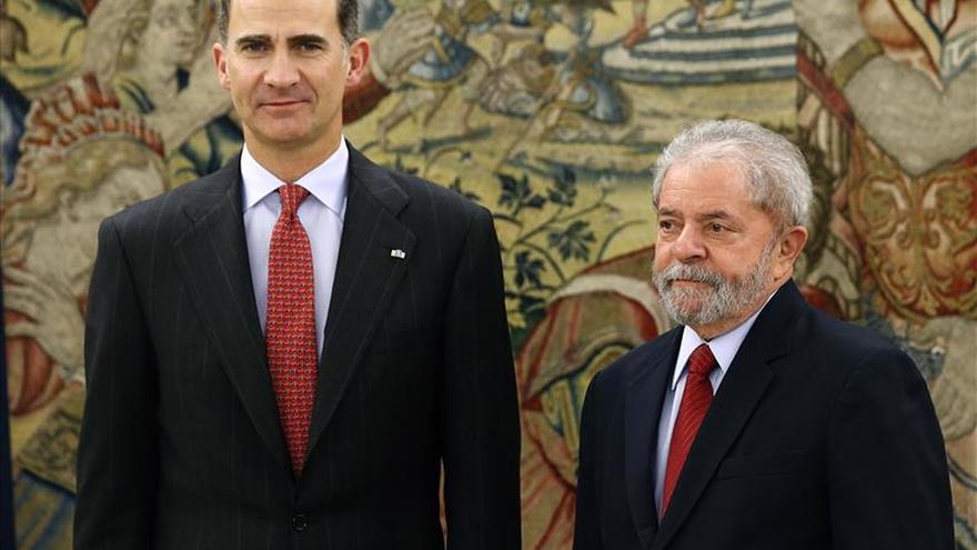 El Rey recibe a Lula en el Palacio de la Zarzuela