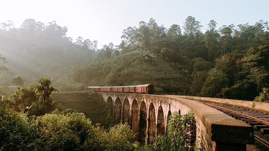 Viaje en tren en Sri Lanka