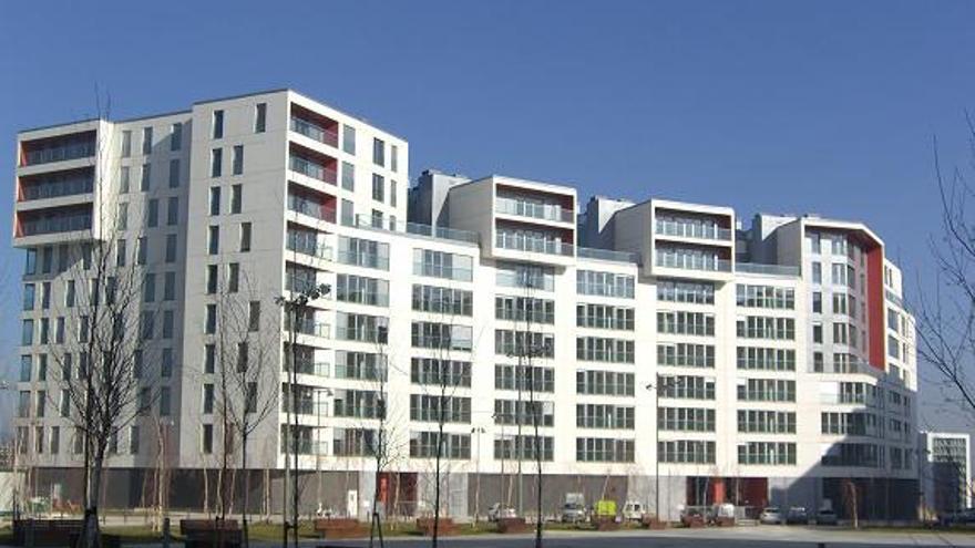 Bloque de viviendas protegidas en una capital de Euskadi.
