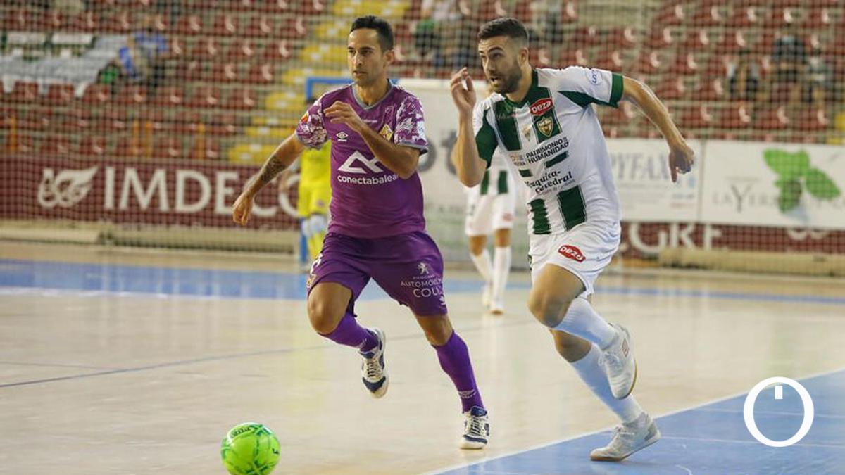 Saura, ante el Palma Futsal en Vista Alegre.