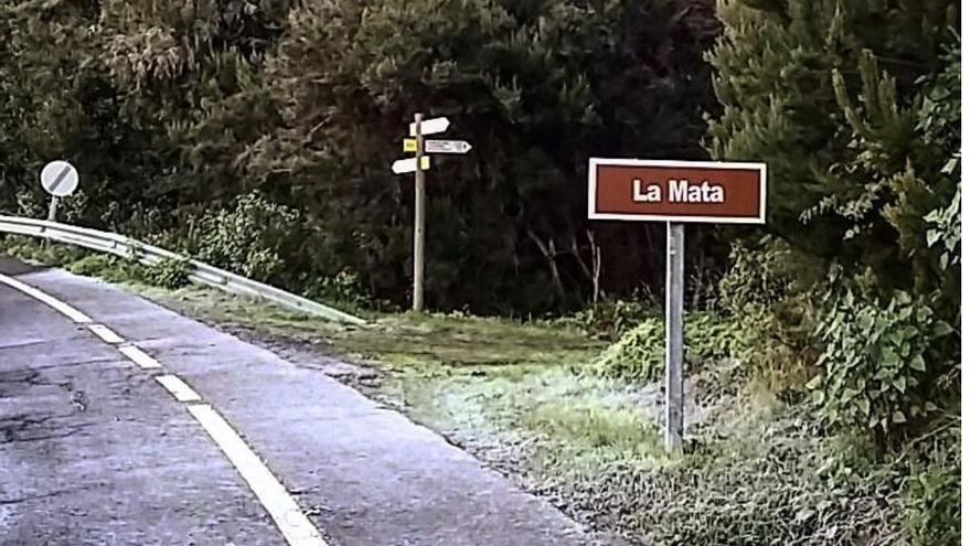 Imagen de la escarcha de este martes en la zona de La Mata  (Garafía).