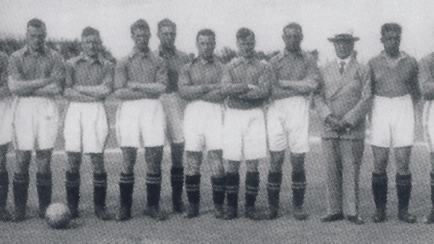 Equipo del Everton que visitió el Heliodoro en 1934 para medirse al CD Tenerife.