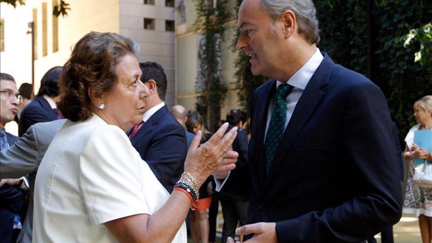Fabra y Barberá expresan sus condolencias a Rajoy por la muerte de su hermano