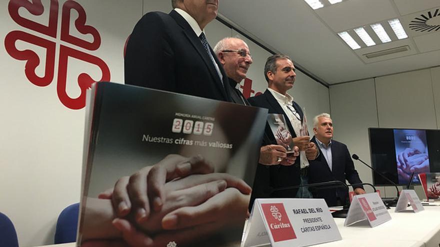 Presentación de la Memoria 2015 de Cáritas