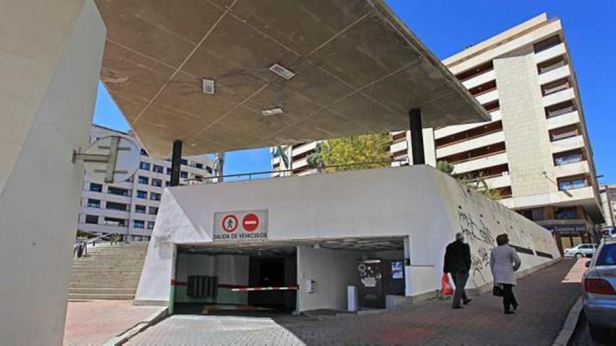 Los exteriores del parking de La Rosaleda en Alcoi