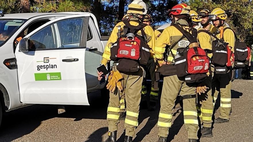 Miembros de uno de los Equipos de Intervención y Refuerzo de Incendios forestales (EIRIF).