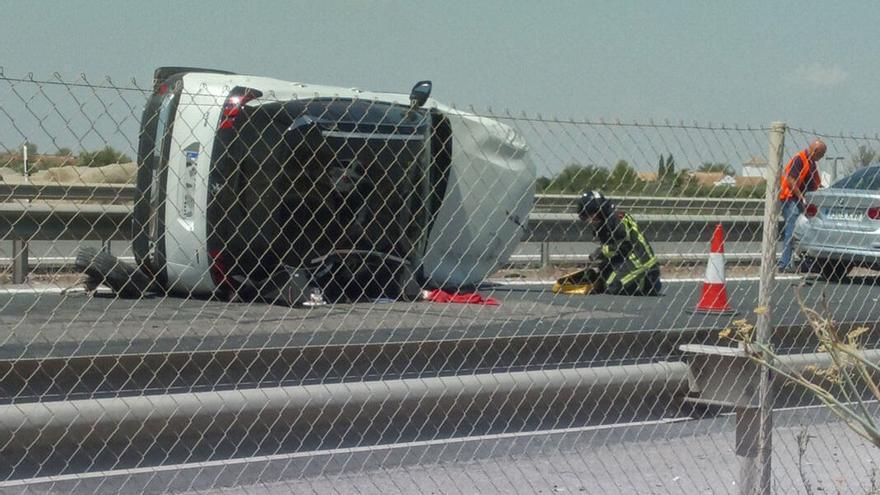 Accidente en la A-4 en La Carlota ocurrido este pasado mes de agosto.