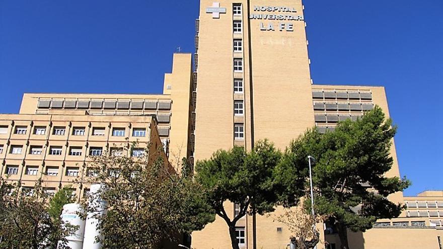 El antiguo hospital La Fe de Valencia, en la zona de Campanar