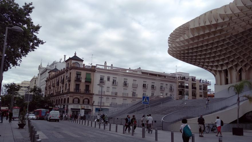 Tramo de las Setas de la Encarnación hacia Plaza Duque/ Foto:MB