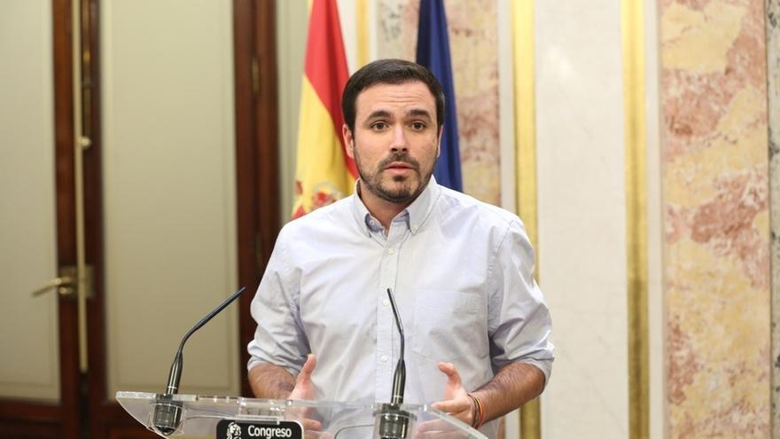 """Garzón (IU) celebra las medidas del TS porque """"facilitan canalizar de forma más racional"""" el conflicto catalán"""