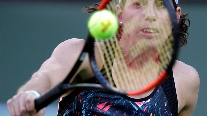 Carla Suárez durante el torneo en Indian Wells