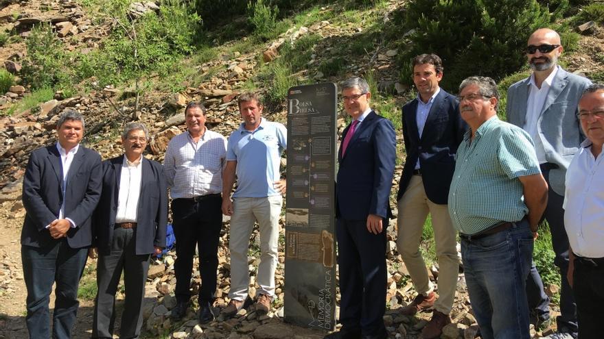 Inauguración del Monolito del Escape de la Bolsa de Bielsa