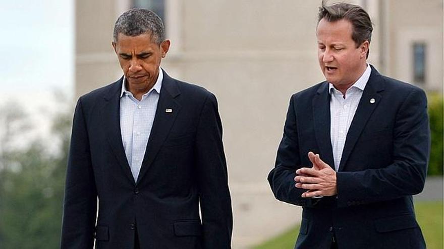 El presidente de Estados Unidos, Barack Obama, y el primer ministro de Reino Unido, David Cameron (Efe)