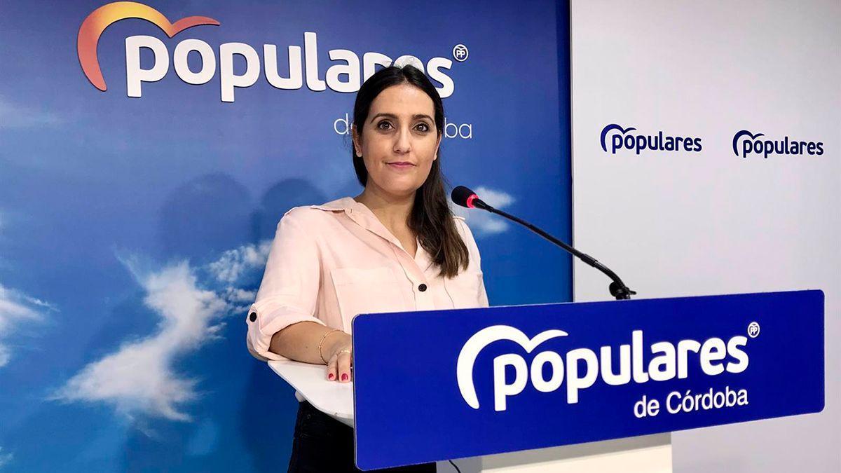 Beatriz Jurado, en la sede del PP.
