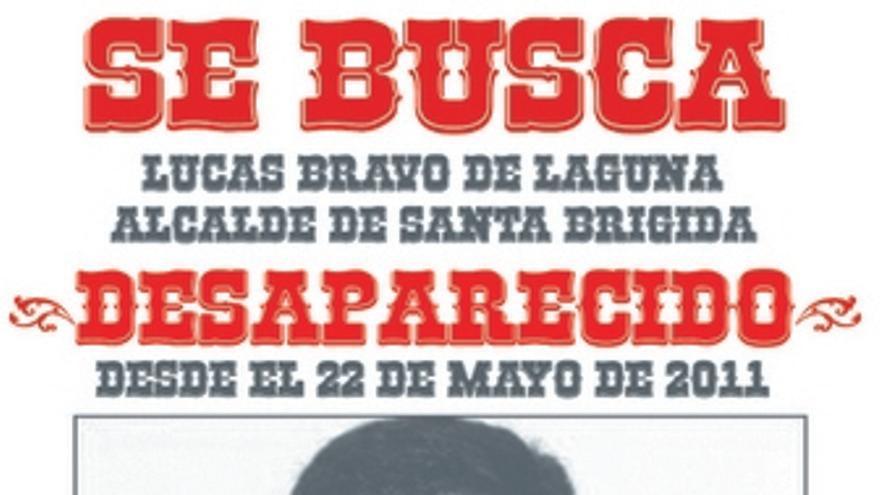 Cartel pegado este viernes en Santa Brígida.
