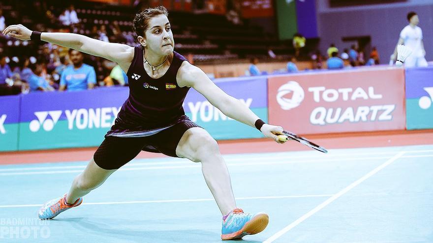 Carolina Marín está desplegando su mejor juego en la India