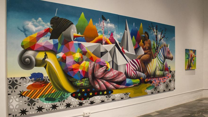 Algunes de les obres exposades al Centre del Carme