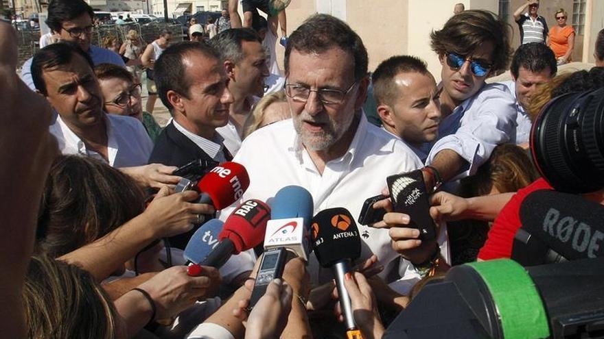 Rajoy pide concentrar el voto moderado en el PP o si no sumará más Podemos