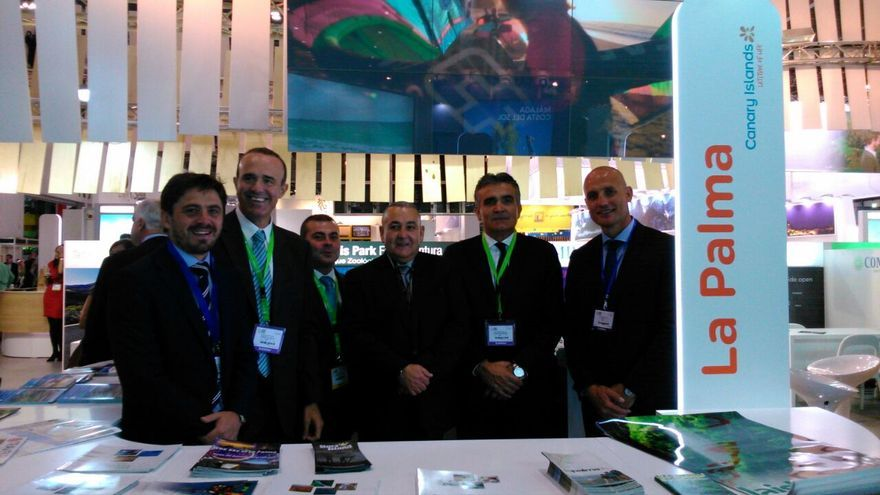 En la imagen, la delegación palmera en la World Travel Market de Londres.