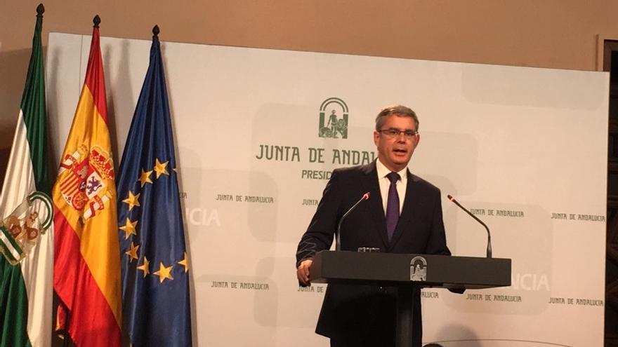 Juan Carlos Blanco este martes en el Consejo de Gobierno/ Foto: MB