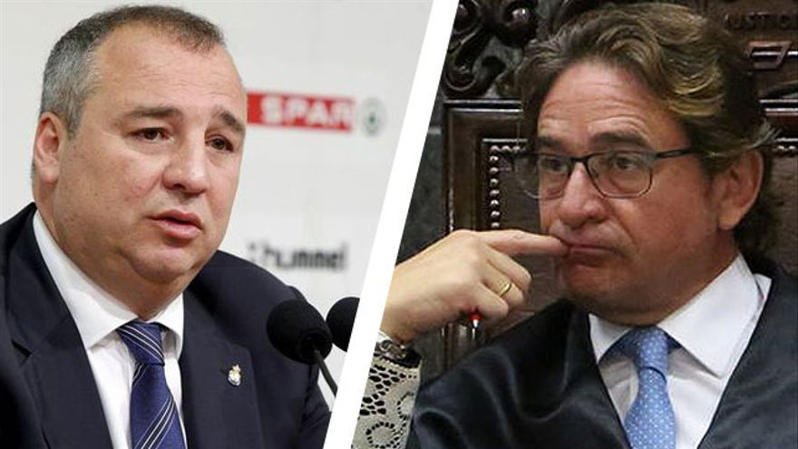 El empresario Miguel Ángel Ramírez y el magistrado Salvador Alba